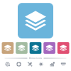 Layers white flat icons on color rounded square backgrounds. 6 bonus icons included - Layers flat icons on color rounded square backgrounds