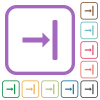 Align to right simple icons - Align to right simple icons in color rounded square frames on white background