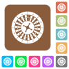 Roulette wheel rounded square flat icons - Roulette wheel flat icons on rounded square vivid color backgrounds.