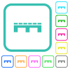 Single pallet vivid colored flat icons - Single pallet vivid colored flat icons in curved borders on white background