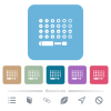 Set of screwdriver bits flat icons on color rounded square backgrounds - Set of screwdriver bits white flat icons on color rounded square backgrounds. 6 bonus icons included