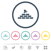 Building industry flat color icons in round outlines - Building industry flat color icons in round outlines. 6 bonus icons included.