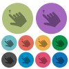 Right handed move up gesture color darker flat icons - Right handed move up gesture darker flat icons on color round background