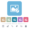 Edit image flat icons on color rounded square backgrounds - Edit image white flat icons on color rounded square backgrounds. 6 bonus icons included