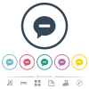 Delete comment flat color icons in round outlines. 6 bonus icons included. - Delete comment flat color icons in round outlines