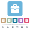 Toolbox flat icons on color rounded square backgrounds - Toolbox white flat icons on color rounded square backgrounds. 6 bonus icons included