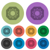 Stop covid color darker flat icons - Stop covid darker flat icons on color round background