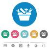 Toolbox flat white icons on round color backgrounds. 6 bonus icons included. - Toolbox flat round icons
