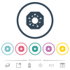 Stop covid flat color icons in round outlines - Stop covid flat color icons in round outlines. 6 bonus icons included.