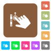 Right handed scroll up gesture flat icons on rounded square vivid color backgrounds. - Right handed scroll up gesture rounded square flat icons