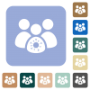 Group covid infection rounded square flat icons - Group covid infection white flat icons on color rounded square backgrounds