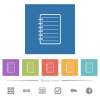 Notepad flat white icons in square backgrounds - Notepad flat white icons in square backgrounds. 6 bonus icons included.