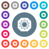 Stop covid flat white icons on round color backgrounds - Stop covid flat white icons on round color backgrounds. 17 background color variations are included.