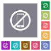 Smartphone not allowed square flat icons - Smartphone not allowed flat icons on simple color square backgrounds