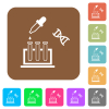 DNA experiment rounded square flat icons - DNA experiment flat icons on rounded square vivid color backgrounds.