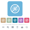 No covid flat icons on color rounded square backgrounds - No covid white flat icons on color rounded square backgrounds. 6 bonus icons included