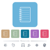 Notepad flat icons on color rounded square backgrounds - Notepad white flat icons on color rounded square backgrounds. 6 bonus icons included