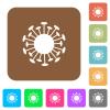 Corona virus rounded square flat icons - Corona virus flat icons on rounded square vivid color backgrounds.