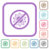 No covid simple icons - No covid simple icons in color rounded square frames on white background