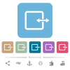 Adjust item width white flat icons on color rounded square backgrounds. 6 bonus icons included - Adjust item width flat icons on color rounded square backgrounds