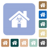 Home quarantine rounded square flat icons - Home quarantine white flat icons on color rounded square backgrounds