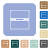 Empty toolbox white flat icons on color rounded square backgrounds - Empty toolbox rounded square flat icons