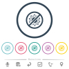 No covid flat color icons in round outlines - No covid flat color icons in round outlines. 6 bonus icons included.