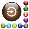 Import white icons on round glass buttons in multiple colors - Import color glass buttons
