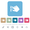 Right handed scroll down gesture flat icons on color rounded square backgrounds - Right handed scroll down gesture white flat icons on color rounded square backgrounds. 6 bonus icons included