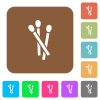 Matches rounded square flat icons - Matches flat icons on rounded square vivid color backgrounds.