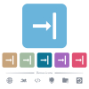 Align to right flat icons on color rounded square backgrounds - Align to right white flat icons on color rounded square backgrounds. 6 bonus icons included