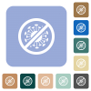 No covid rounded square flat icons - No covid white flat icons on color rounded square backgrounds