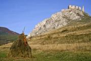 The castle ruins of Torockoszentgyorgy, Cetatea Coltesti, Romania - View of the castle ruins of Torockoszentgyorgy