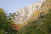 Rock at the Turda Gorges in Transylvania, Romania - Detail of the Turda Gorges