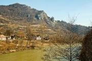 The view of the Aries River in Transylvania, Romania - Aries River