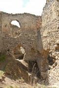 Closeup of the castle ruins of Torockoszentgyorgy in Romania - Castle ruins of Torockoszentgyorgy, Cetatea Coltesti, Romani
