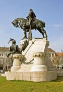 The statue of Matthias Corvinus in Cluj-Napoca, Romania - The statue of king Matthias Corvinus