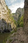 In the famous canyon near Turda, in Romania - Turda Gorges