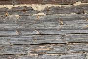 Detail of the outside wall of an old woodhouse - Wood patterns