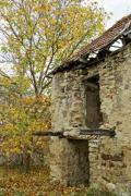 An abandoned ruined building in the forest - Detail of a ruined house
