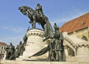 The statue of Matthias Corvinus in Cluj-Napoca, Transylvania, Romania - The statue of king Matthias Corvinus
