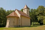 The famous Holy Trinity Church in Velemer, Hungary - from the 13th century - Medieval church