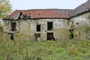 Front view of an abandoned ruinous bulding - A ruinous house