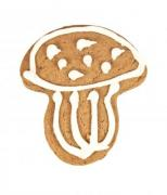 A piece of mushroom-shaped gingerbread isolated on white background - Gingerbread