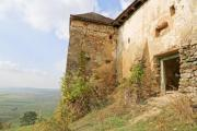 Side view of an old house on a hill - Old house