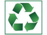 Green recycle symbol isolated on white background. - Recycle symbol