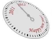 Clock with Happy New Year written on it. - Happy New Year Clock