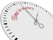 Time is money written on a watch. Vector saved in EPS10. - Time is money