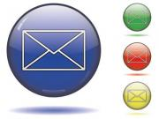 Glossy sphere icon set of a mail symbol. Vector saved in EPS10. - Sphere icon set - mail button