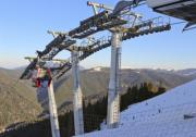 Ski lift in the Southern Carpathians at 1600 meters. - Ski lift